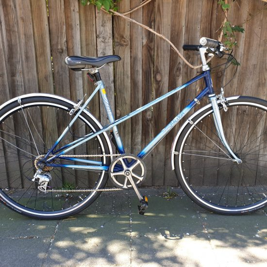 full, side view of Raleigh Wisp bicycle